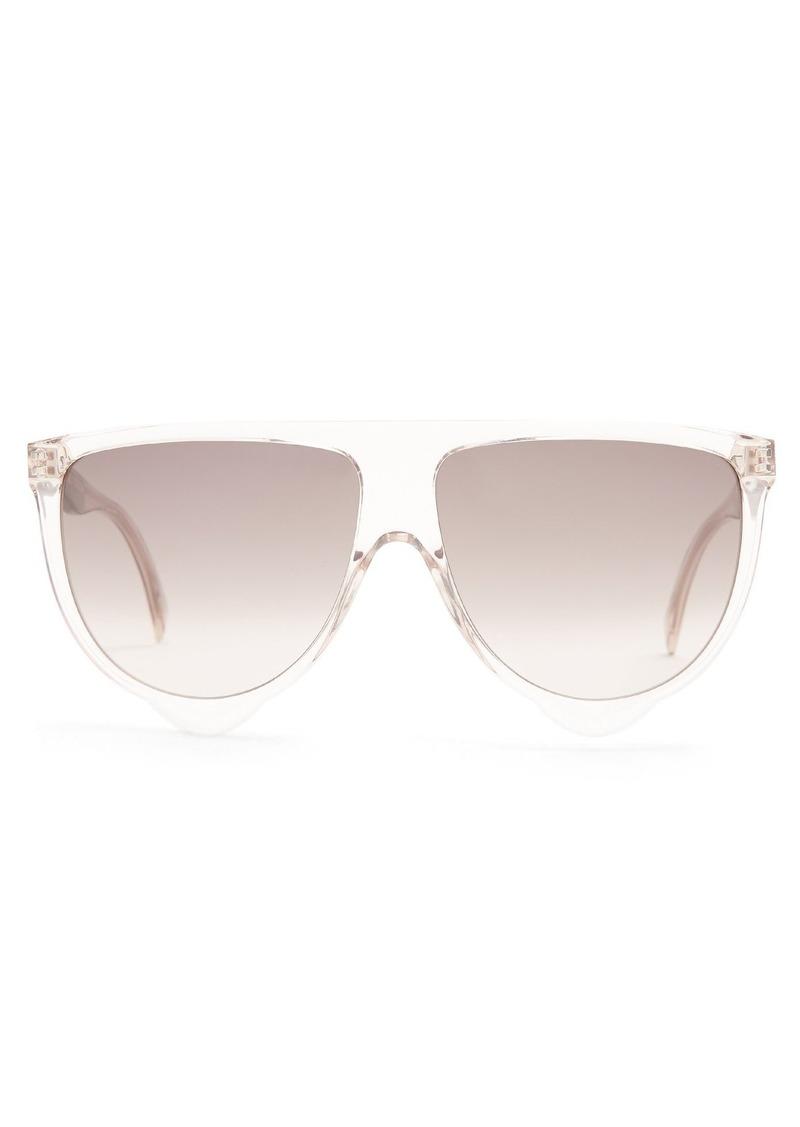 310264c8a1ec SALE! Celine Céline Eyewear Shadow aviator D-frame acetate sunglasses