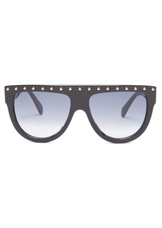 Celine Céline Eyewear Shadow D-frame avaiator acetate sunglasses