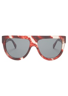 b0d5c70b50 Celine Celine Eyewear Shadow aviator D-frame acetate sunglasses ...