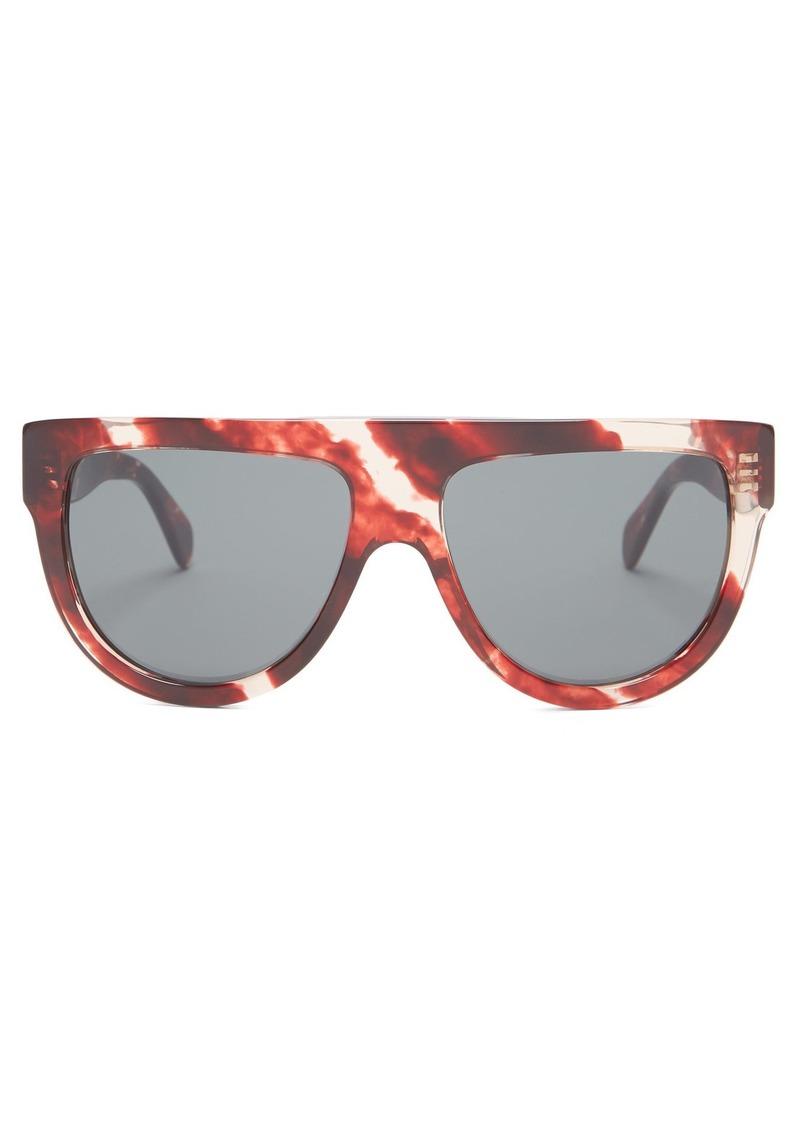 d5ba206a89c3 Celine Céline Eyewear Shadow D-frame marbled acetate sunglasses ...