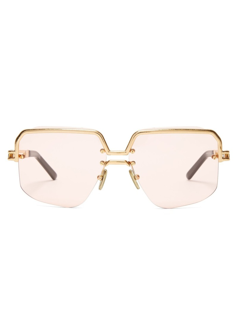37a1c6291ce9 Celine Céline Eyewear Square aviator-frame sunglasses Now $518.00