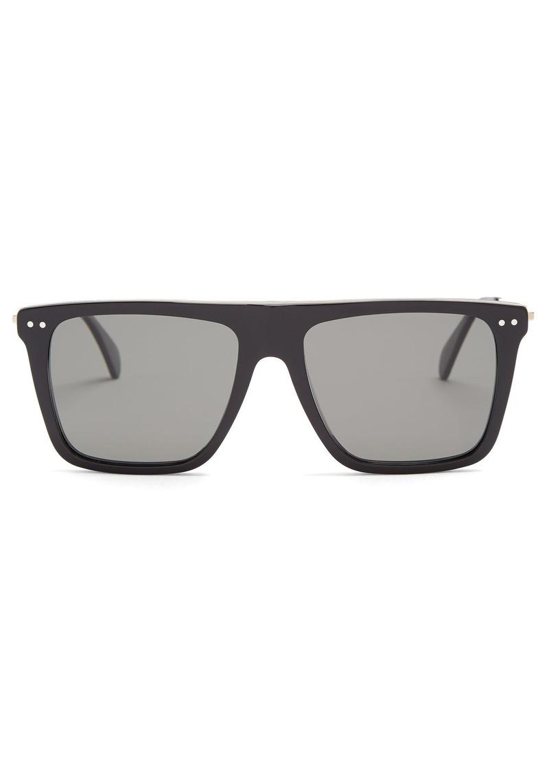 6d4a53e5728d Celine Céline Eyewear Squared aviator-frame acetate sunglasses ...