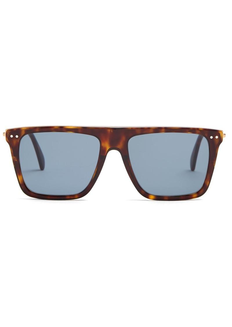 Céline Eyewear Squared aviator-frame acetate sunglasses