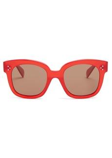Celine Céline Eyewear Squared-frame acetate sunglasses