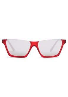 Celine Céline Eyewear Top-flat acetate sunglasses