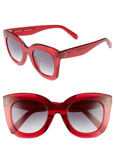 Celine Céline Special Fit 49mm Cat Eye Sunglasses