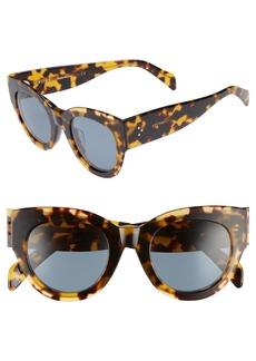 Celine Céline Special Fit 50mm Cat Eye Sunglasses