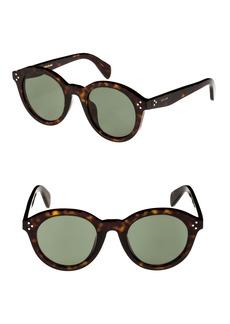 Celine Céline Special Fit 50mm Round Sunglasses