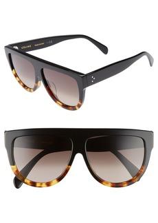 Celine Céline Special Fit 60mm Flat Top Sunglasses