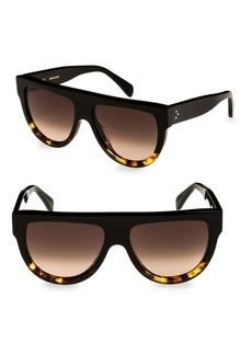 Celine Flat Top Universal Fit Aviator Sunglasses