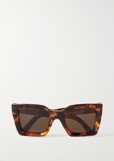 Celine Square-frame Tortoiseshell Acetate Sunglasses