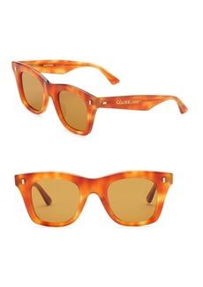 Celine Square Tortoise-Shell Print Sunglasses