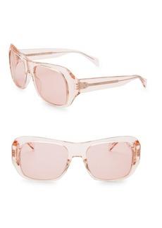 Celine Transparent 56MM Rectangular Sunglasses