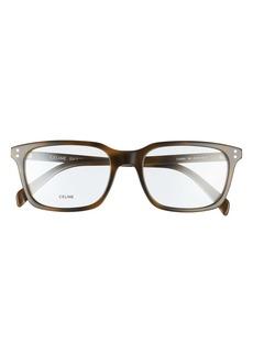 Women's Celine 54mm Rectangle Optical Glasses - Khaki Havana