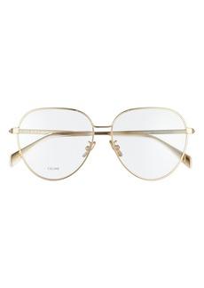 Women's Celine 57mm Round Eyeglasses - Transparent Clear