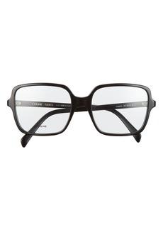 Women's Celine 57mm Square Reading Glasses - Black