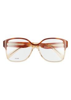 Women's Celine 58mm Rectangle Optical Glasses - Transparent Sand