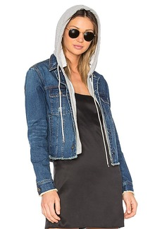 Central Park West Beacon Hooded Jean Jacket. - size M (also in S,XS)