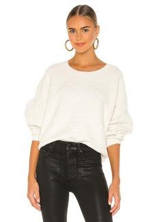 Central Park West Corning Cable Sweater