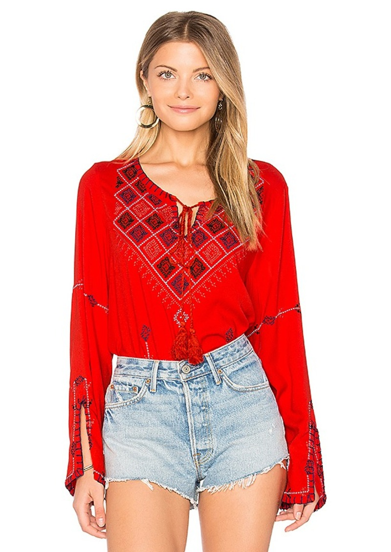 dae7c54257b Central Park West Central Park West Cozumel Blouse in Red. - size M ...