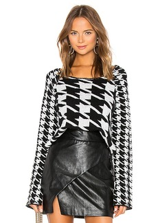 Central Park West Middleberry Cropped Sweater