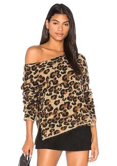 Central Park West Montana Avenue Leopard Sweater