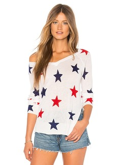 Central Park West Red Rock Linen Star Sweater
