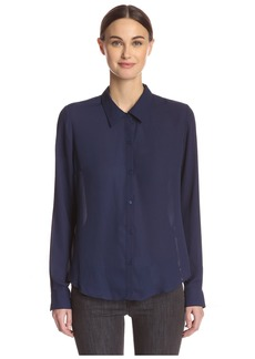 Central Park West Women's Blouse with Vent Back  M