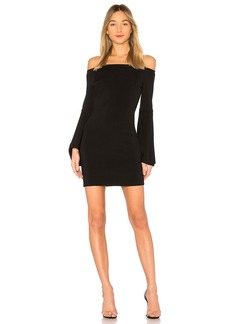 Central Park West Olympia Off the Shoulder Dress