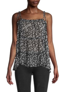 Central Park West Printed Cami Top