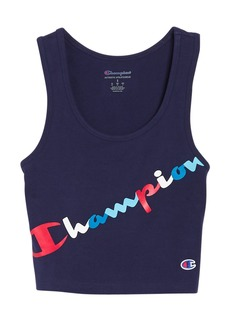 Champion Authentic Logo Crop Top