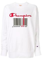 Champion barcode logo sweatshirt