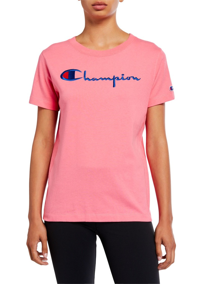 Champion Big Script Crewneck Short-Sleeve Logo T-Shirt