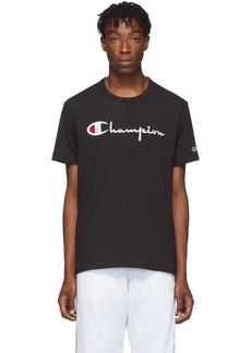 Champion Black Big Script Logo T-Shirt