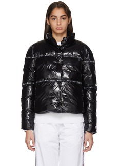 Champion Black Shiny Puffer Jacket