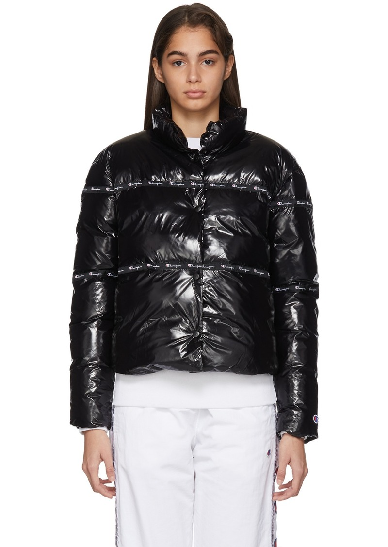 Champion Black Shiny Puffer Jacket