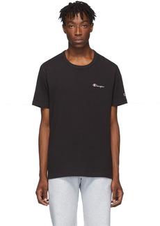 Champion Black Small Script T-Shirt