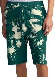 Champion Bleach Splatter Crewneck Athletic Shorts