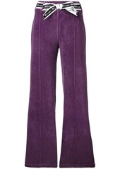 Champion bow ribbon flared trousers