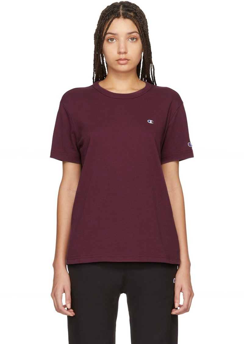 Champion Burgundy Logo T-Shirt