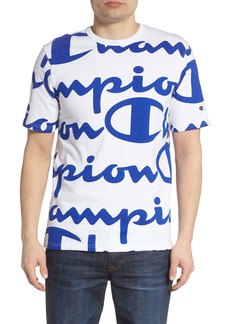 Champion All Over Logo Print T-Shirt