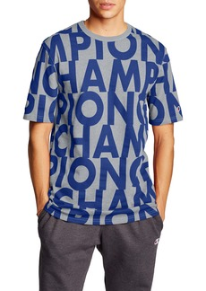 Champion Big Block Script Heritage Crewneck T-Shirt