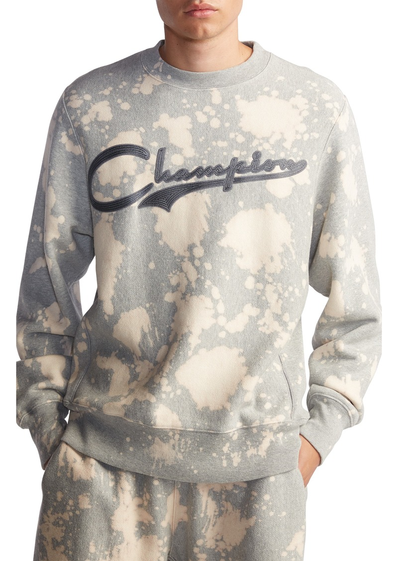 Champion Bleach Splatter Crewneck Sweatshirt