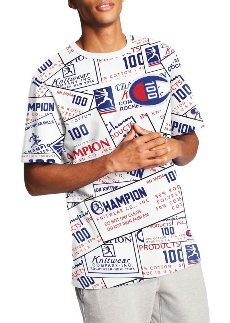 Champion Century Logo Graphic Cotton Jersey Tee
