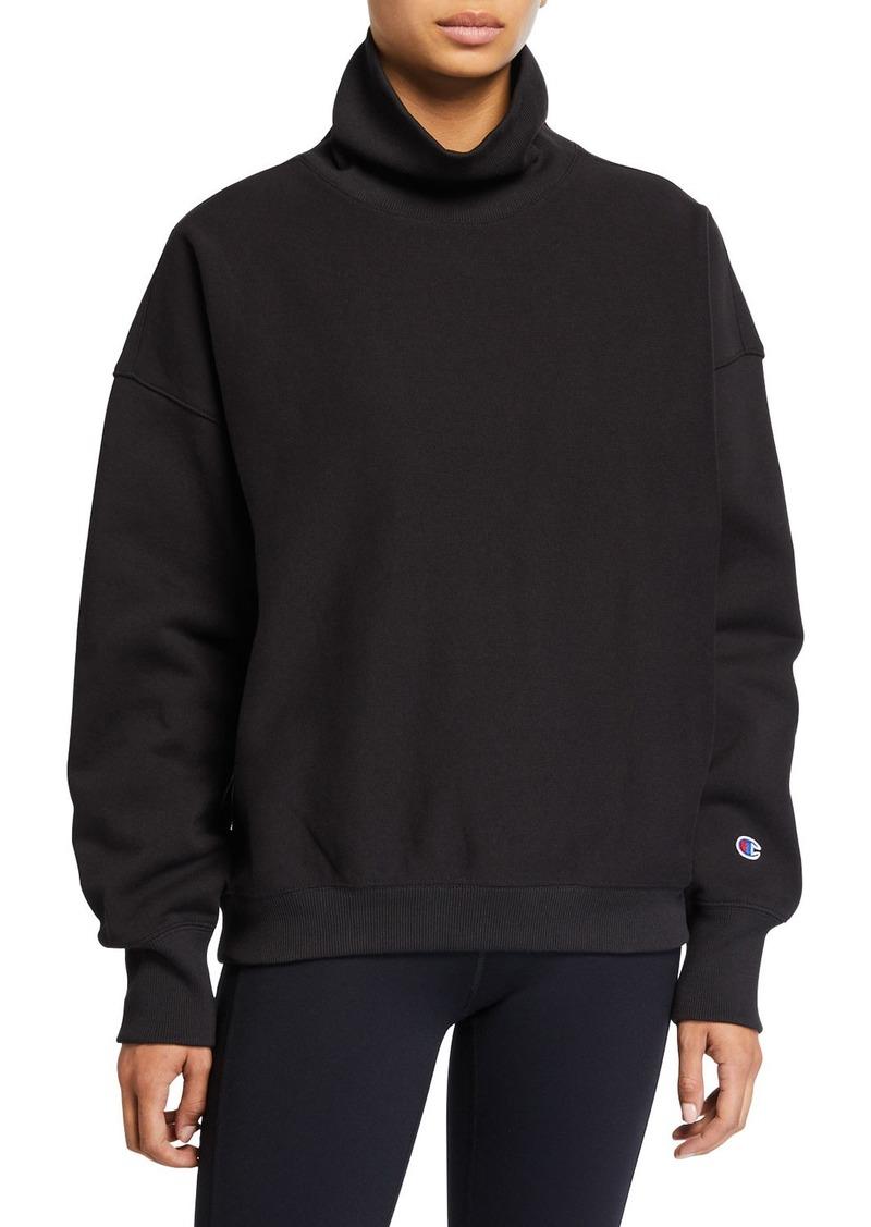 Champion Europe Reverse Weave Sleeve Logo High-Neck Sweatshirt