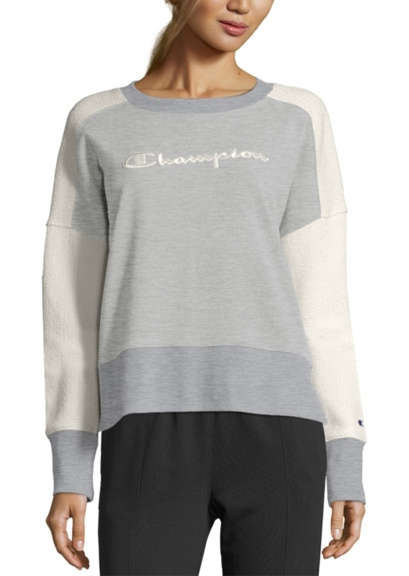 Champion Heritage Cotton Mixed-Texture Sweatshirt
