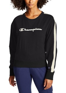 Champion Women's Heritage Varsity-Stripe Sweatshirt