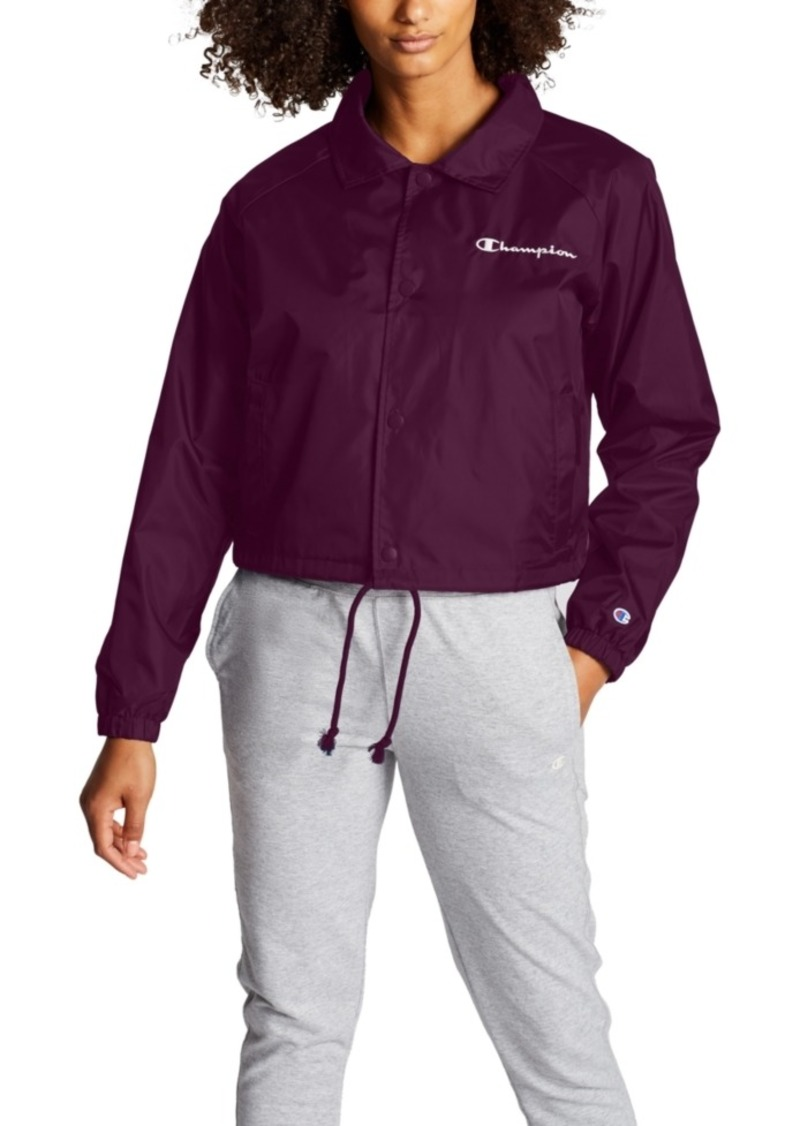 Champion Heritage Water-Repellent Cropped Coach's Jacket