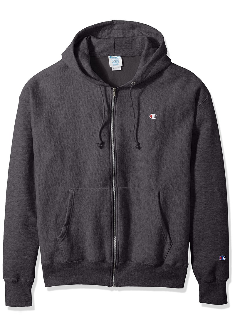 Champion LIFE Men's Reverse Weave Full-Zip Hoodie Granite Heather M