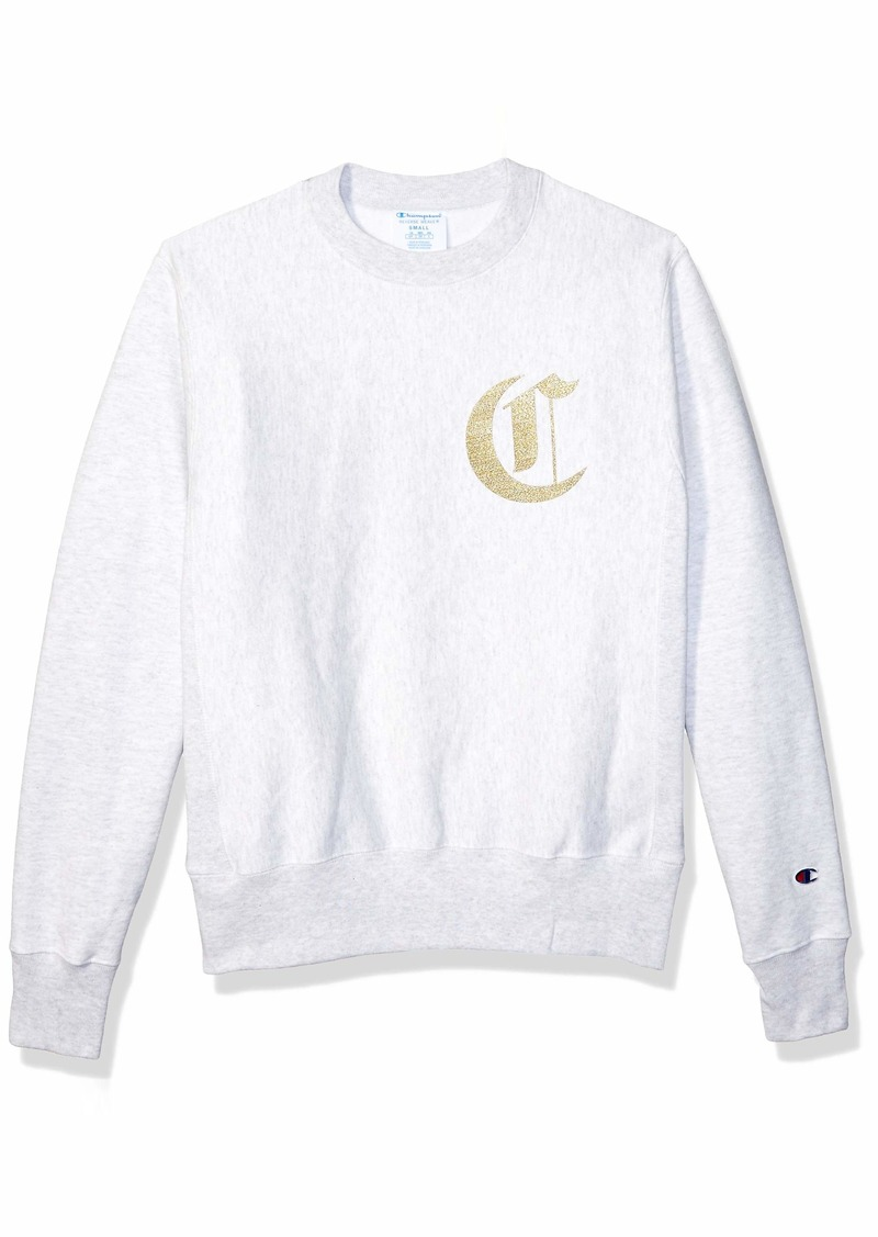 Champion LIFE Men's Reverse Weave Sweatshirt gfs Silver Grey w/Old English Lettering 2X Large